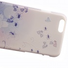 "Bluegrass Pattern Basso-Relievo Protective PC Back Case for IPHONE 6 4.7"" / 6S - Blue + White"