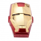 Dgpower Iron Man Universal-Dual USB 6000mAh Li-po bewegliche Energien-Bank w / Indicator - Red + Golden