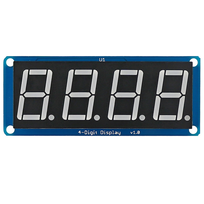 0.56 Blue LED 4-Digit Display Module with Decimal Point for Arduino / RPi / AVR / ARM lson 0 4 8 digit 7 segment digital display module deep blue 5v