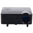 OURSPOP UR55 Mini 1080P LED Portable Projector w/ AV / VGA / USB / HDMI + 8GB SD Card  (EU Plug)