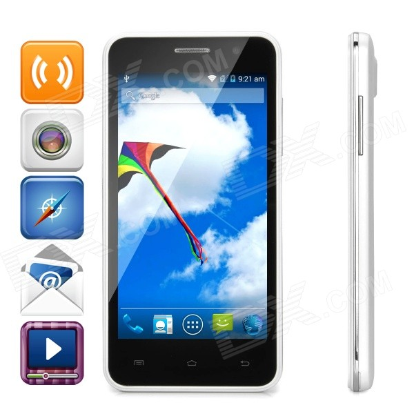 Atongm H3 Android 4.4 Quad Core 4G Phone w/ 4.5, 8GB ROM, WiFi, GPS, BT, FM - White