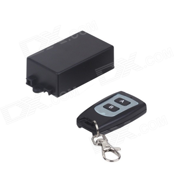 ZnDiy-BRY  220V Mini 1CH  RF Remote Control Switch w/ 2-Key Controller - Black