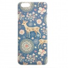 Mystic Elk Pattern Basso-Relievo Protective PC Back Case for IPHONE 6 / 6S - Blue + Yellow