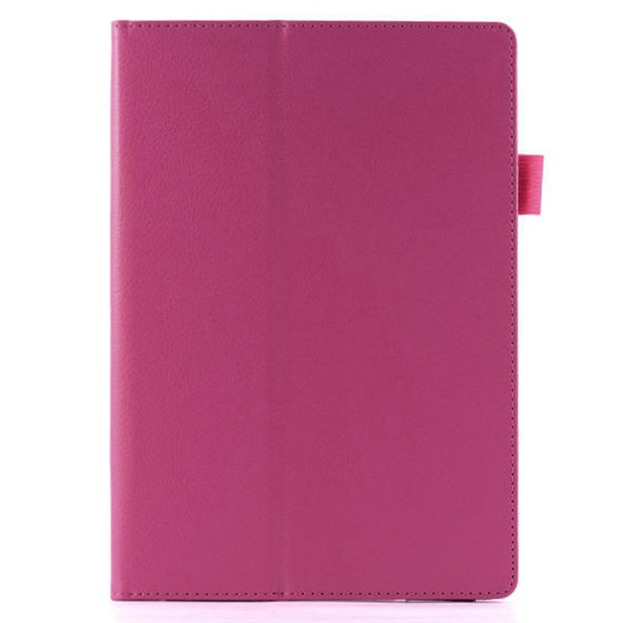 Protective PU Leather Flip Open Case Cover w/ Stand / Auto Sleep for Google Nexus 9 - Deep Pink removable bluetooth v3 0 64 key keyboard w pu case for google nexus 9 8 9 white