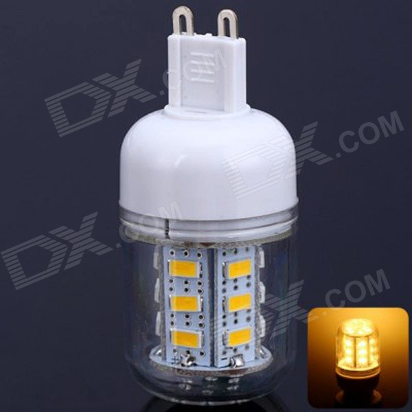 G9 5W 400lm 3000K 24-5730 SMD LED Warm White Light Maize Lamp - White (AC 220~240V)