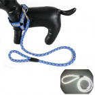 Luminous Collar Traction Rope Leash for Pet Cat / Dog - Blue