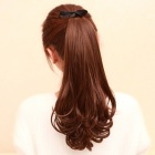 Curly Synthetic Fiber Ponytail Extension Peruukki-Deep Brown