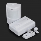 Infrared Induction Doorbell Transmitter + Receiver Set - White (2 x AA)