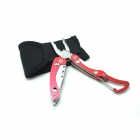 CT3001 Mini Foldaway Multifunktionszange + Cutter + Karabiner Tool - Red