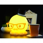 Creative Octopus Style USB Rechargeable LED Table Lamp - Yellow