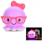 Creative Octopus Style USB Rechargeable LED Table Lamp - Purple