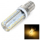 E14 5W 450lm 3500K 72-SMD 3014 LED Warm White Dimmable Lamp - White + Silvery Grey (AC 220~240V)