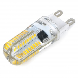 G9 5W LED Dimmable 3500K 450lm Warm White Light - White + Silvery Grey