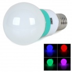 MLX-SD-QCD E27 2W 120lm Colorful Light 3528 SMD LED Bulb - White + Green (AC 220V)