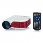 Portable 12W LED Mini Projector w/ HDMI / TV / VGA / SD - White + Reddish Brown (EU Plug)