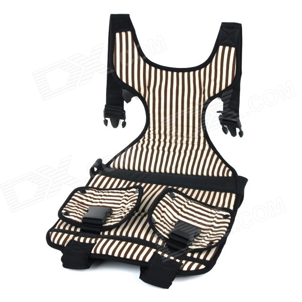Car Safety Harness Seat Cover Cushion for Children / Kids - Black + Light Yellow hot sale colorful girl seat covers for cars auto car safety child safety belt portable infant kiddy car seat for traveling