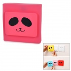 Creative Lovely Pattern Silicone Decoration Cover Protector Guard for Wall Light Switch - Deep Pink