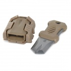 Buckle Pocket Shiv & Adapter for Outdoor Molle Woven Tape Webbing - Khaki