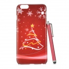 Christmas Tree Pattern Protective PC Back Case + Stylus Pen for IPHONE 6 PLUS - Red + Multi-Color