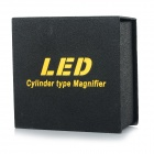 type cylindre 3LED lumière blanche lecture 5X loupe - noir (2 * CR2016)