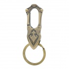 Fashion Stainless Steel Car Keychain - Golden