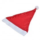 Stylish Non-woven Fabric Christmas Hat w/ Decorative Paillette for Children / Adults - Red + White