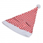 Stylish Polka Dot Pattern Nonwoven Fabric Christmas Hat for Children / Adults - Silver + White + Red