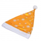 Stylish Snowflake Pattern Non-woven Fabric Christmas Hat for Children / Adults - Golden + White