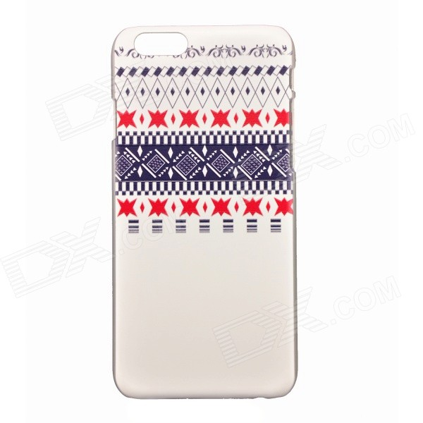"Protección relievo Angular Patrón PC Caso para IPHONE 6 4.7 "" / 6S - Blanco + azul"