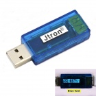 Jtron  0.91 inch OLED Display USB Voltage Meter Tester with Blue Light Display - Blue