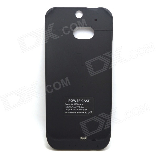 Itian 3000mAh Li-po Portable Battery Charger Power Back Case for HTC One M8 - Black
