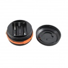 Outdoor Camping 1W 80lm 6000K LED 3-Mode White Retractable Light - Black + Orange (3 x AA)