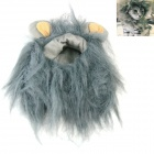 Lion Style Cosplay Synthetic Furs Collar Scarf / Wig for Pet Cat - Grey (Size M)