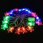 Snowflake Style Christmas Flash 20-LED RGB Light String (EU Plug / 5M)