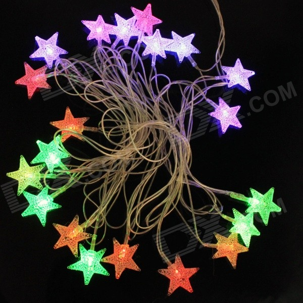 Five-pointed Star 4.8W Christmas Flash 20-LED RGB Light Strip - White (EU Plug , AC 110~220V, 5m)