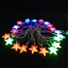 Estrela de cinco pontas 4.8W Natal do Flash 20-LED RGB Light Strip - Branco (Plug UE, AC 110 ~ 220V, 5m)