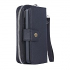 "Fashionable PU Leather Zipper Wallet Case for IPHONE 6 4.7"" - Black"