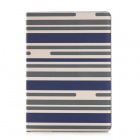 Protective Flip-Open PU Case w/ Card Slot / Stand / Auto Sleep for IPAD AIR 2 - Blue + White