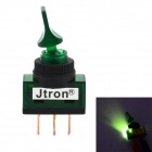 Jtron 12V 20A 2-Mode Brachypodium Auto Toggle Switch w / Green Light - verde