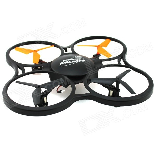 YDL-BX448 2.4GHz 4-CH 6-Axis Gyroscope Quadrocopter - Orange + Black