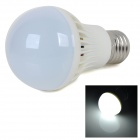 E27 4W 350lm 6000K White Light 5730 SMD LED Bulb - White + Silver (AC 220~240V)