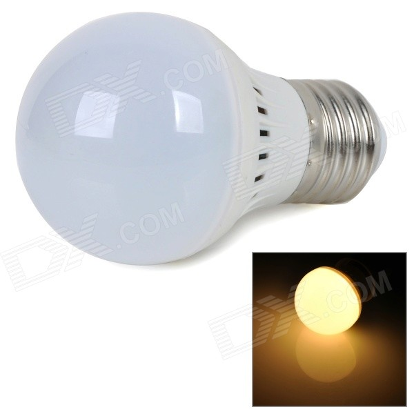 E27 2W 220lm 2700K Warm White Light 5730 SMD LED Bulb - White + Silver (AC 220~240V)