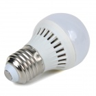 E27 2W 220lm 2700K Warm White Light 5730 SMD LED Bulb - White + Silver