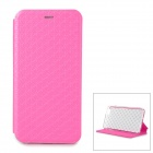 Asterisk Patterns PU Flip-Open Case w/ Stand for IPHONE 6 PLUS - Deep Pink