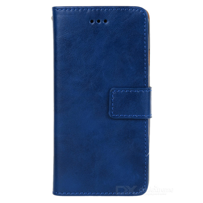 Flip-open PU + PC Case w/ Card Slot + Stand for IPHONE 6 4.7 - Dark Blue stand leather case for iphone 6 plus 6s plus 5 5 inch with card slot dark blue