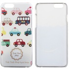 Cartoon Cars Pattern Protective PC zurück Fall für iPhone 6 - Weiß + Multi-Color