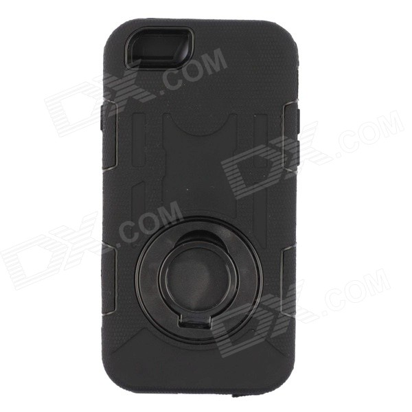 Shockproof Waterproof Dust-proof Protective Plastic Case for IPHONE 6 - Black pc dust proof mobile phone case for iphone 6 6s