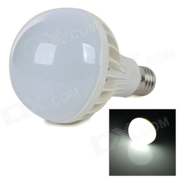 E27 9W 720lm 6000K White Light 5730 SMD LED Bulb - White + Silver (AC 220~240V) gu10 3w 250lm 6000k 9 5730 led white light spotlight cup white ac 100 240v