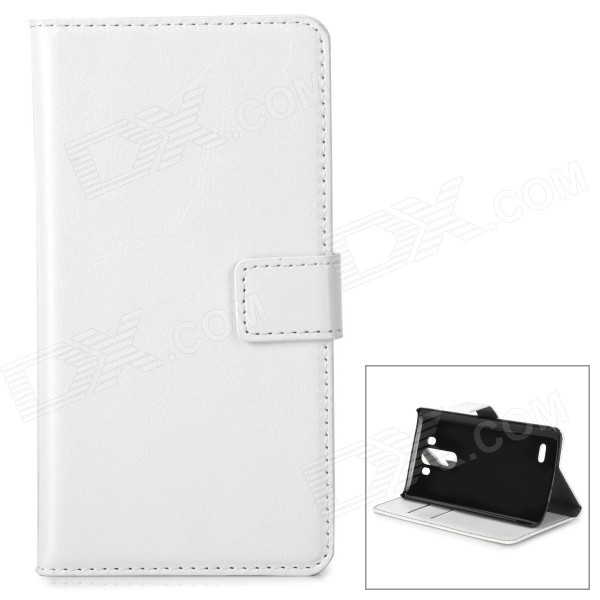 Protective PU Leather Flip-Open Case for LG G3 - White