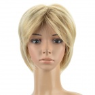 Women's Fashion Short Straight Hair Wig - Golden